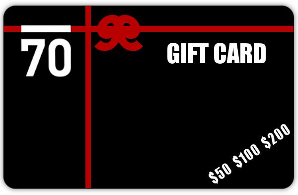Sub 70 Golf Gift Card