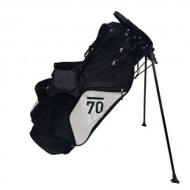 Sub 70 Golf Stand Bag Black/White Side